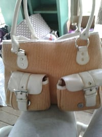 brown and white leather handbag Lookout Mountain, 30750
