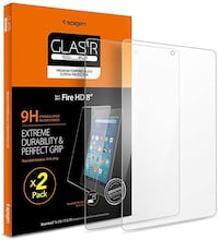 Spigen Screen Protector Tempered Glass for All New Fire HD 8 Tablet