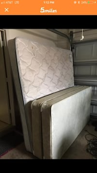 King size Pillow top mattress and box springs