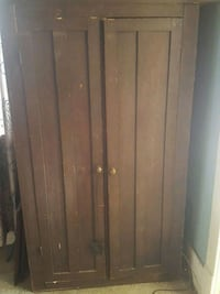 brown wooden 2-door wardrobe Regina, S4T 2T6