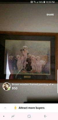 brown wooden framed painting of woman Surprise