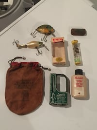 Vintage fishing lures etc. hand tied flies from the 60's Edina, 55424