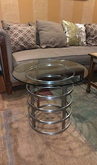 Glass Table Round