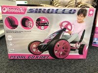 New O'Hauck Pink/Black Pedal Kart
