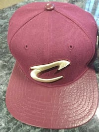 maroon Cleveland Cavaliers fitted cap