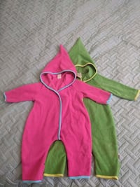 Zutano Cozie Elf Suit with feet and hand fold over cuffs
