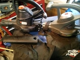 B&D and task force leaf blower/mulchers electric