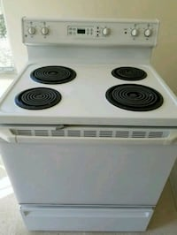 white and black electric coil range oven Belleville, 48111