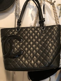 quilted black leather tote bag Columbia, 21044