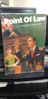 New Point Of Law Board Game (1972) Philadelphia, 19154