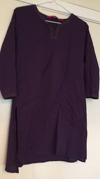 Purple women's Kurtha top