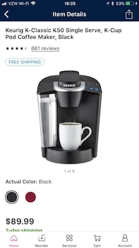 Black Keurig Gilbert, 85296