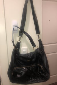 Real leather cargo purse