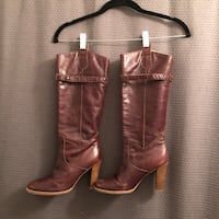 Pair of brown leather boots Santa Monica