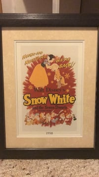Disney Snow White framed Lithograph movie posters. Kitchener, N2A 4K4