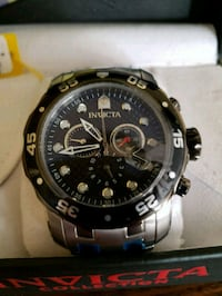 round black chronograph watch with link bracelet Lawrenceville, 30044