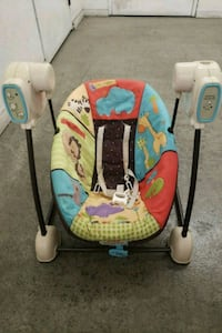 baby's white and red portable swing Oceanside, 92056