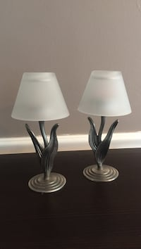 Pewter & frosted glass candle holders Upper Darby, 19018
