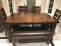 brown wooden table with chairs Mississauga, L5N 7X2