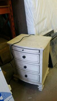 white wooden 3-drawer chest Calgary, T2A 5R5