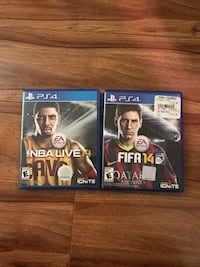 two Sony PS4 game cases Garden Grove, 92840