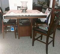 Oak table with chairs, high top Portage, 49002