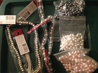silver and white beaded accessories