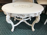 oval white wooden table Indianapolis, 46234