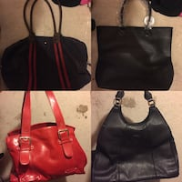 two black and red leather tote bags Vaughan, L6A