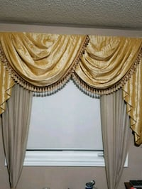 brown and white window curtain Markham
