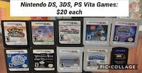 Nintendo DS/3DS/PS Vita Games