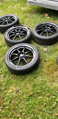 4  17 in wheels rims tires 4x100  4x114.3 4 lug un Germantown