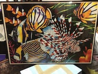 Colorful tropical fish picture in nice frame. Manassas, 20110