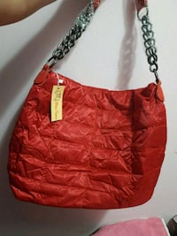 hobo bag in pelle rossa e marrone Casalecchio di Reno, 40033