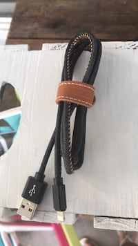 black and brown leather belt null
