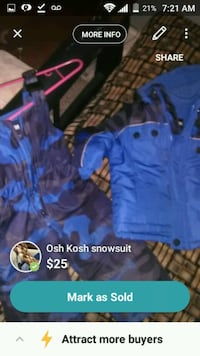 Osh Kosh snow suit  London, N5W