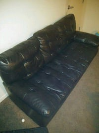black leather 3-seat sofa Washington, 20032