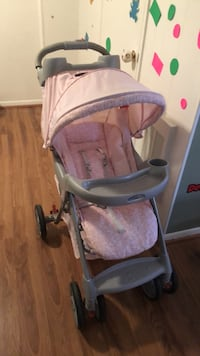 baby's pink and gray Graco stroller Springfield, 22150