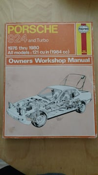 Haynes Porsche 924 and turbo 1976 thru 1980 owners 2387 mi