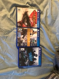 two Sony PS4 game cases Newport News, 23605