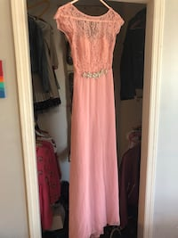 Pink prom evening dress