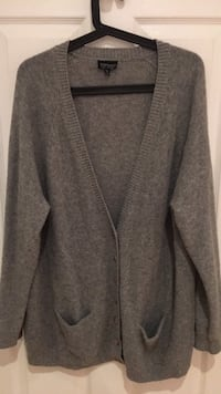 gray knit button-up cardigan Laval, H7P 4G3