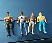 four action figures 2 a team 2 rambo
