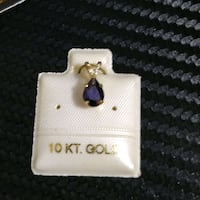 New! 10k Gold with Genuine Lolite pendant Toronto, M2H
