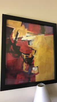 yellow, red, and purple abstract painting Palm Beach Gardens, 33410
