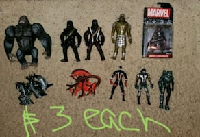 Action figure lot $3 each