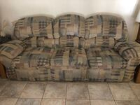 brown and gray fabric 3-seat sofa Chino, 91710