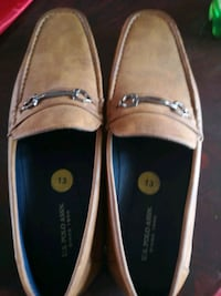 pair of brown leather boat shoes Kitchener, N2M 2G8