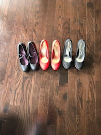 Three pairs of assorted shoes size 8 Brampton, L6W 1S5