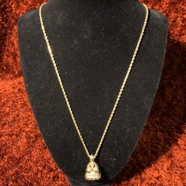 Antique 14k Yellow Gold Watch Fob Pendant with 14k Rope Chain 9577d807-efa8-43c4-8c60-4b5bcc34b85d